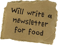 Will write a newsletter for food